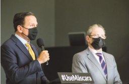 """Doria: """"disponibilizamos R$ 50 milhões para as escolas se prepararem"""". Foto: Governo do Estado de SP"""