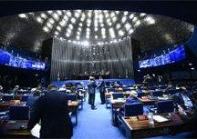 plenário foi reaberto para votação de autoridades. A aprovação de embaixadores e membros de órgãos do Judiciário precisa acontecer presencialmente. Foto: Marcos Oliveira/Agência Senado