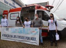 Rio Grande da Serra recebe ambulância UTI do Grupo JBS/Massa Leve. Foto: Divulgação/PRGS