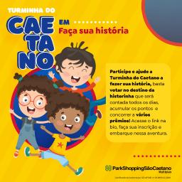 ParkShopping São Caetano realiza ação digital com Turminha do Caetano para entreter os pequenos nesse Dia das Crianças
