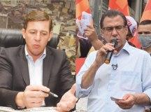 Em São Bernardo, Orlando Morando busca a reeleição; ex-prefeito Luiz Marinho concorre pelo PT. Fotos: Arquivo