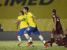 Seleção brasileira joga mal, mas vence a Venezuela e segue 100%