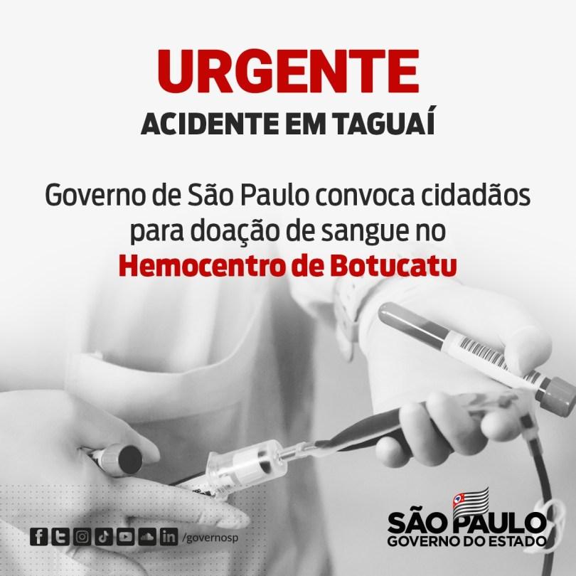 São Paulo monta força-tarefa para liberar corpos das vítimas fatais do acidente na SP 249 e pede doações de sangue