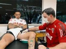 Exames confirmam estiramento muscular e Luciano não enfrenta o Atlético-MG