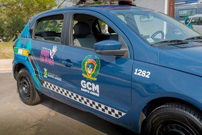 Patrulha Maria da Penha, especializada no atendimento às mulheres vítimas de violência, foi acionada com apoio dos agentes da Romu. Foto: Helber Aggio/PSA