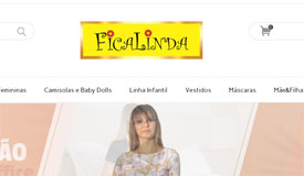 FICALINDA: marca investe em peças biodegradáveis e com proteção solar. Foto: Reprodução/Site oficial