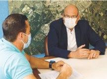 José de Filippi se reuniu com Lauro Michels para iniciar transição de governo. Foto: Dino Santos.