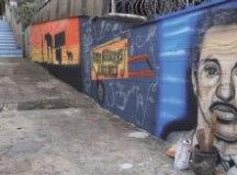 Grafite traz um pouco da história de Epitácio Belo Ramos. Foto: Divulgação