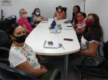 Secretária Rejane Calixto recebeu representantes do Conselho Popular de Saúde em seu gabinete. Foto: Divulgação/PMD