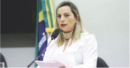 """Katia Sastre: """"Em minha primeira eleição, em 2018, a população do ABC depositou em mim a confiança de desempenhar um trabalho eficiente em prol da segurança pública. Foto: Michel Jesus/Câmara dos Deputados"""
