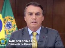 Bolsonaro é alvo de panelaços durante pronunciamento. Foto: Reprodução