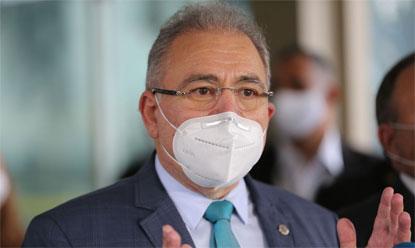 Queiroga negou que o Brasil seja uma ameaça internacional por causa do coronavírus.Foto: Fábio Rodrigues Pozzebom/Agência Brasil