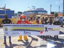 Atividades na região marcam Maio Amarelo, mês dedicado para conscientizar a sociedade como evitar mortes e feridos no trânsito. Foto: Divulgação/PMETRP