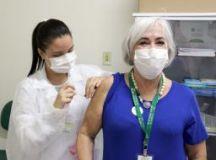 Campanha contra a gripe imunizou nesta semana 741 profissionais do Centro Universitário FMABC, Fundação do ABC e Central de Convênios. Foto: Divulgação/FUABC