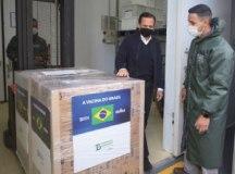 Doria entregou último lote da 1ª etapa do contrato com o Ministério da Saúde. Foto: Governo do Estado de SP
