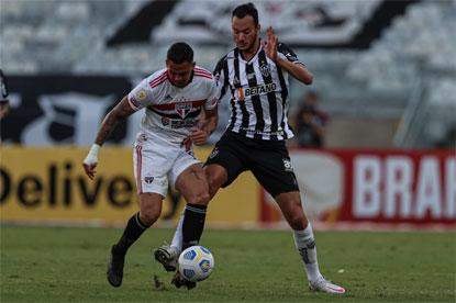 São Paulo perde para o Atlético-MG e segue sem vencer no Brasileiro