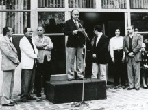 Inauguração da primeira sede da Fundação Pró-Memória de São Caetano do Sul, no prédio do antigo Paço Municipal em 26 de setembro de 1992 (Foto: Acervo FPMSCS/Centro de Documentação Histórica