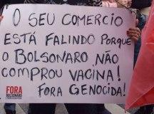 Em São Paulo, por volta das 15h, manifestantes fechavam a Avenida Paulista, no sentido Consolação. Foto: Elineudo Meira/Fotos Públicas