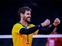 Seleção masculina de vôlei oscila, mas vence Tunísia na estreia em Tóquio