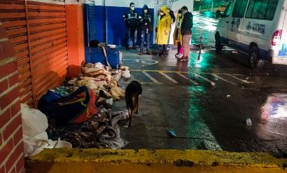 Equipes ofereceram acolhimento a 815 pessoas; 134 aceitaram. Foto: Divulgação/PMSBC