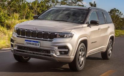 Primeiro Jeep totalmente desenvolvido no país, Commander leva sete pessoas