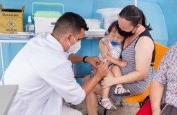 municípios da região promovem o Dia V para atualização da caderneta de vacinação, bem como para ampliação da cobertura vacinal contra a covid-19. Foto: Alex Cavanha/PSA