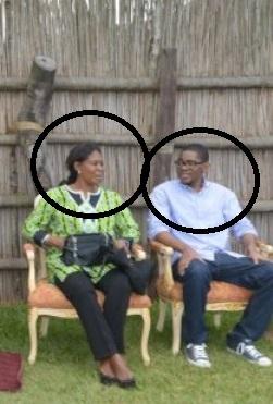 Constancia Mangue y su hijo Hassan Obiang