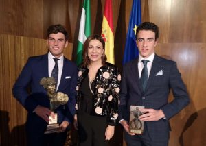 La alcaldesa junto a Orozco y El Moli.