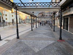 Imagen que presentaban las terrazas de la plaza del Socorro.