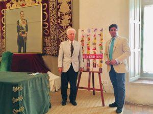 Francisco Rivera junto a Rafael Atienza en la presentación del cartel de la Goyesca.