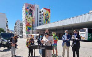 La alcaldesa durante su intervención.