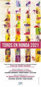 Cartel Goyesca 2021.