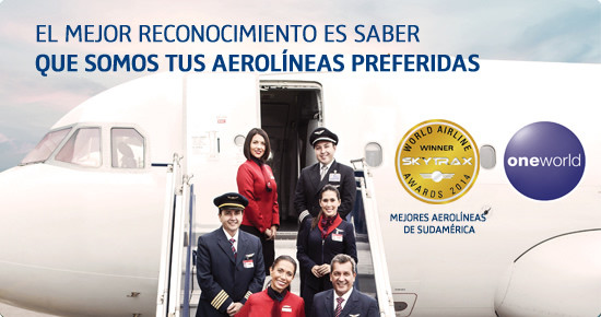 """LAN y TAM son reconocidas como las """"Mejores Aerolíneas de Sudamérica"""" en los World Airline Awards"""