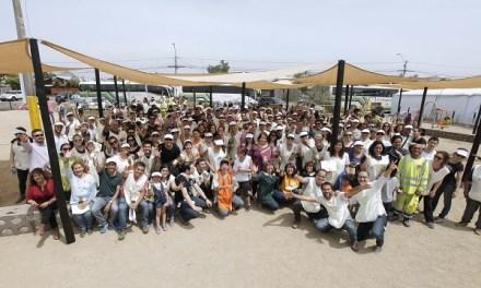 Vecinos de San Bernardo, Fundación Mi Parque y voluntarios de L'Oréal construyeron nueva área verde para la comuna.