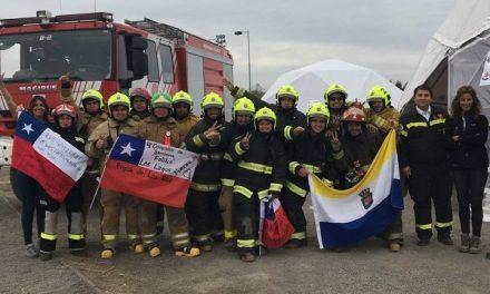 Bomberos reciben campamento para apoyar las labores ante los incendios que afectan a la Región del Biobío