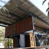 Inauguran inédito edificio universitario construido con materiales reciclados