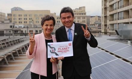 Ministro Marcelo Mena se reúne con ex jefa de Cambio Climático de la ONU y se refieren a la salida de Estados Unidos al Acuerdo de París