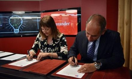 Economía firmó acuerdo con Banco Santander para apoyo de emprendedores en Escritorio Empresa