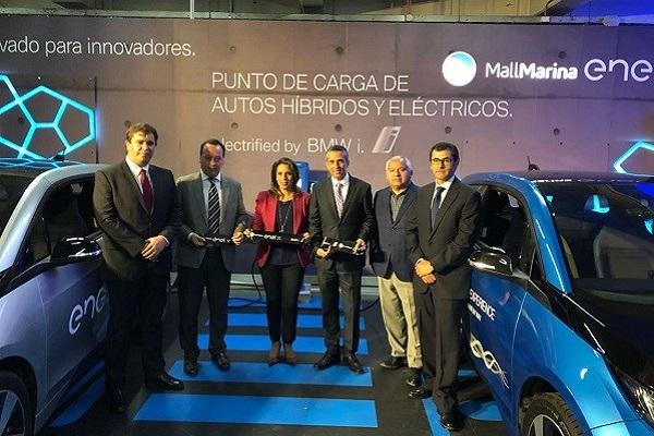 BMW i y Enel X inauguran en Viña del Mar dos estaciones de carga para vehículos eléctricos en Mall Marina