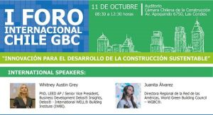 Importantes speakers internacionales y nacionales se unen a hablar sobre innovación en construcción sustentable