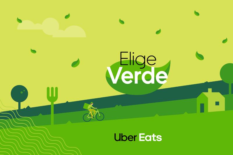 """Uber Eats lanza la opción """"Elige Verde"""" para disminuir el uso de plástico"""