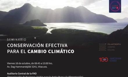 Expertos analizarán factibilidad de conservar 30% de áreas marinas y terrestres para enfrentar cambio climático  en el marco de la COP25