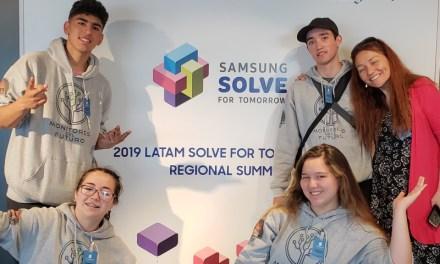 """Estudiantes viajan a Brasil para representar a Chile en encuentro regional de tecnología """"Solve for Tomorrow"""""""