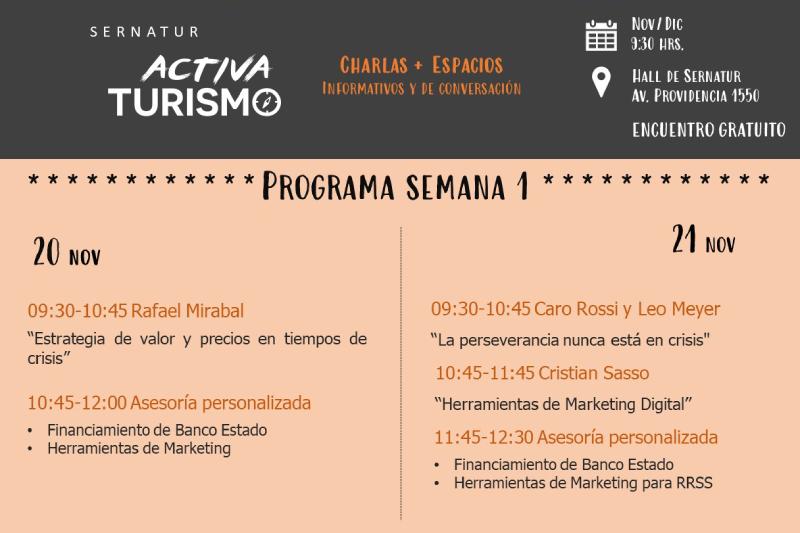 Sernatur lanza Activa Turismo, un espacio para brindar apoyo a las pymes del sector