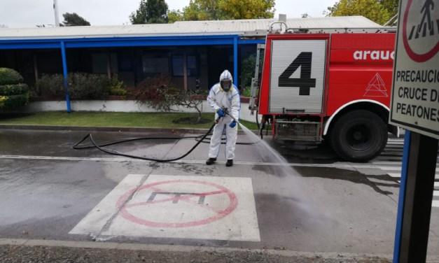 Arauco realiza sanitización masiva en más de 50 localidades del país