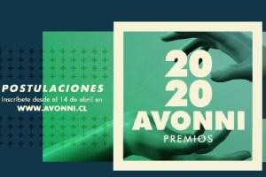 Premios Avonni Abre Postulaciones 2020 a través de plataforma online