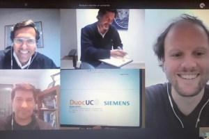 Duoc UC y Siemens firman convenio de colaboración para intensificar acciones en el ámbito de la electricidad y automatización.
