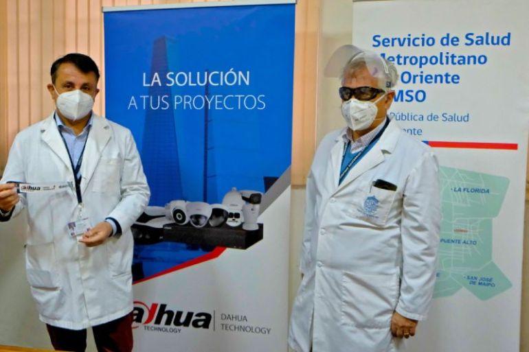 Hospital Sótero del Río recibe donación de escudos faciales por Dahua Technology