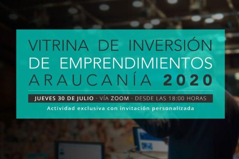 """""""Vitrina de inversión de emprendimientos, Araucanía 2020"""""""