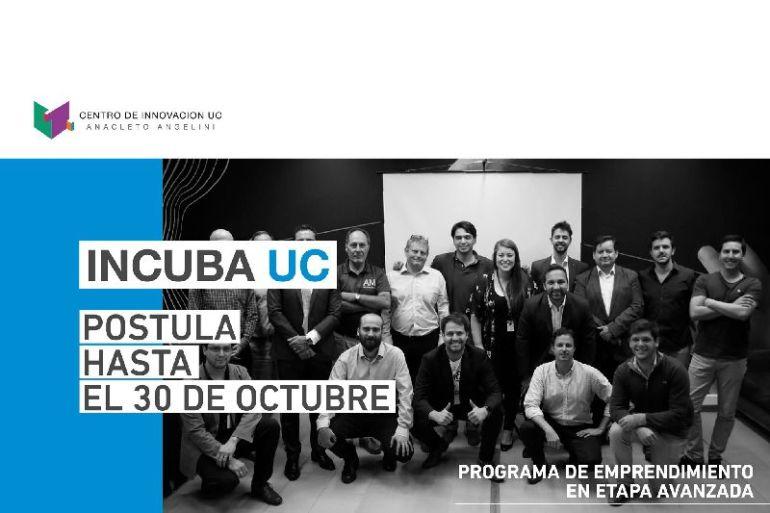 Nueva convocatoria de Incuba UC busca entregar apoyo a emprendedores